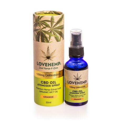 Love Hemp® 1200mg CBD Olaj Spray - 30ml - Narancs ízű