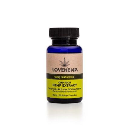 Love Hemp® 750mg CBD Softgel Kapszula