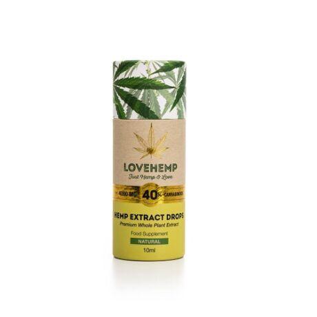 Love Hemp® 4000mg 40% CBD Olaj – 10ml Borsmenta ízesítéssel