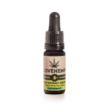 Love Hemp® 800mg 8% CBD Oil – 10ml