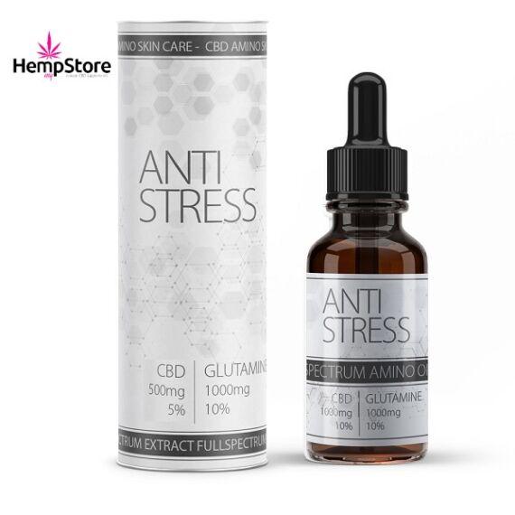 VALEO anti stress 500mg CBD olaj + 1000mg L-Glutamine